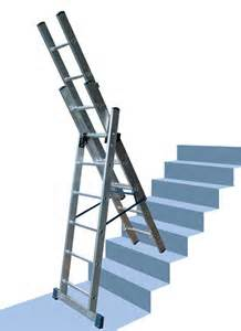 combi ladder on stair